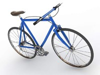 3d sport bicycle blue