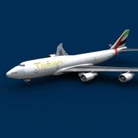 747-400 emirates cargo 3d model