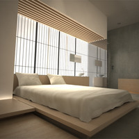 Modern Japanese Bedroom