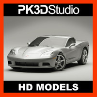 chevrolet corvette 3d 3ds