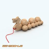 3d model of childrens train dragon