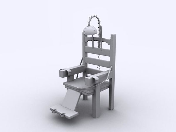 old electric chair 3d 3ds - Electric Chair... by GameReadyModels