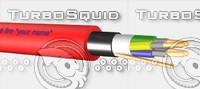 3d model resistant signal cable 1x4x0