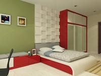 bedroom design 3d max