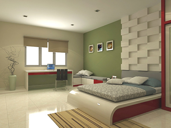 Bedroom design 3d max for Bedroom designs 3d model
