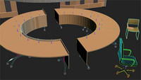 3d model board room desk
