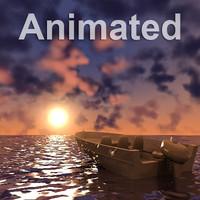 3D Animated Ocean Scene Dusk.zip