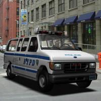 3d police van