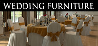 Wedding chair and table setting