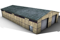 3d old shed warehouse