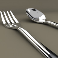 3d model fork spoon
