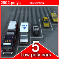 5 social vehicles (low poly)
