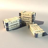 ammo crates 3d model
