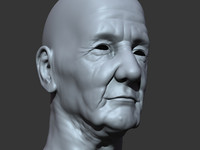 Old Man Head (Polygonal Version)