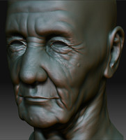Old Man Head (Zbrush Version)