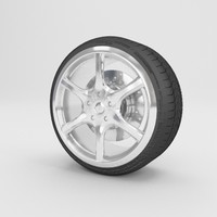 3d 6 spoke alloy wheels