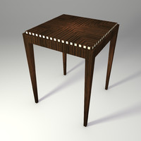 3d model macassar art deco table