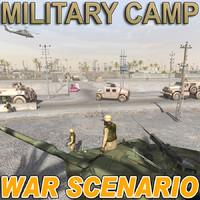war scenario military camp max