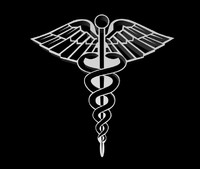 caduceus symbol medical 3d model
