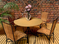 Round Table And Wicker Chair.zip