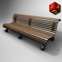 c4d garden street bench