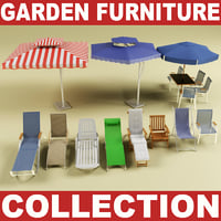 3d model of garden furniture vol 2