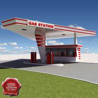 3d gas station v23