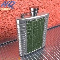 hip flask 06 3d model