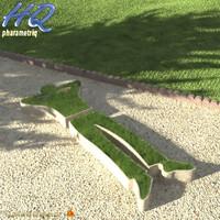 3d model planter 00