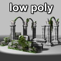 LowPoly Ancient Ruins