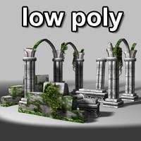 3d ancient ruins model