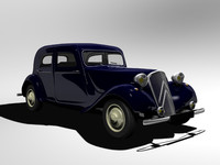 citroen traction cars 3d max