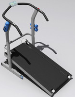 treadmill workout 3d model