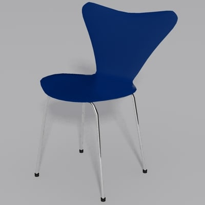 3d model jacobsen chair