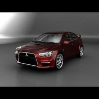3d mitsubishi lancer evolution 10 model