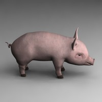 3ds max little pig