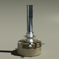 potentiometer variable resistor 3d model