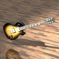 les paul guitar studio 3d 3ds