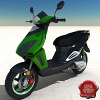 3ds scooter modelled