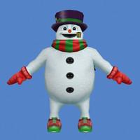 xmas snow snowman 3ds