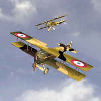 Airplane SPAD VII (Biplane)