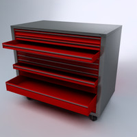 3d model of tool rack