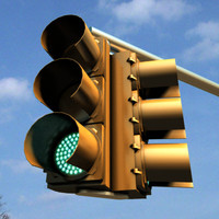 3d model traffic light