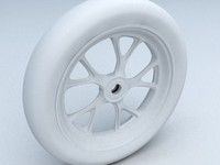 3d model wheel motorcycle