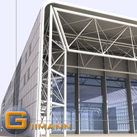 large shed building 3d max