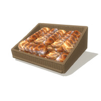 3d bread basket 3 model