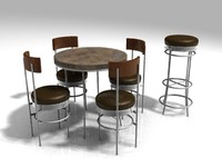 3d chair cafe seating