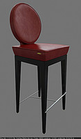 chair martini bar 3d 3ds