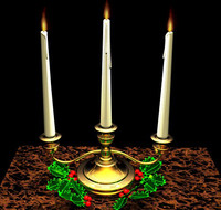 christmas candles 3d model