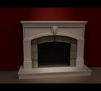 A Fireplace 3D at home or apartment domestic model
